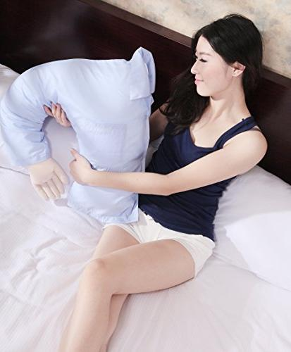 Deluxe Pillow White – Husband Women Men Singles – Alone Pillow – - Or Unique With Gag Factor
