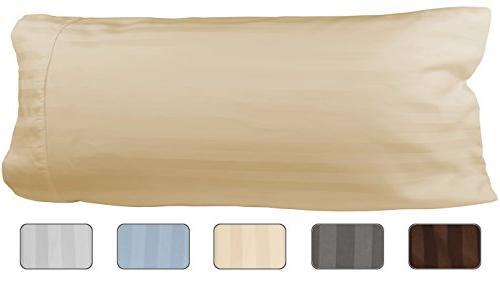 Egyptian Cotton Luxury Striped 540 Thread Count Body Pillow