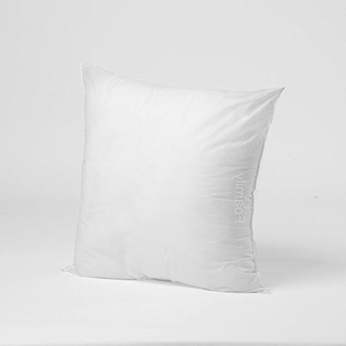 Foamily Premium Hypoallergenic Stuffer Pillow Insert Sham Sq