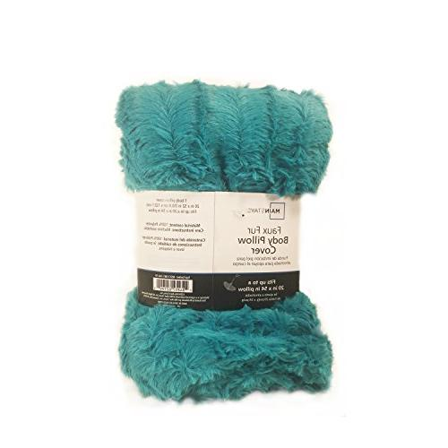 Idea Teal Body Pillow Cover 20x52