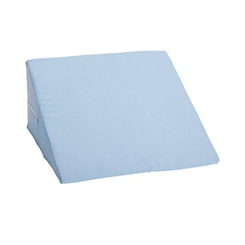 Mabis Bed Wedge, Elevates Head Help Relieve Common Pains Like Neck and Shoulder Pain Pain, Pain, Varicose Veins, 1, Blue