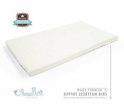 Milliard Memory Foam Crib Mattress Topper – For Standard C