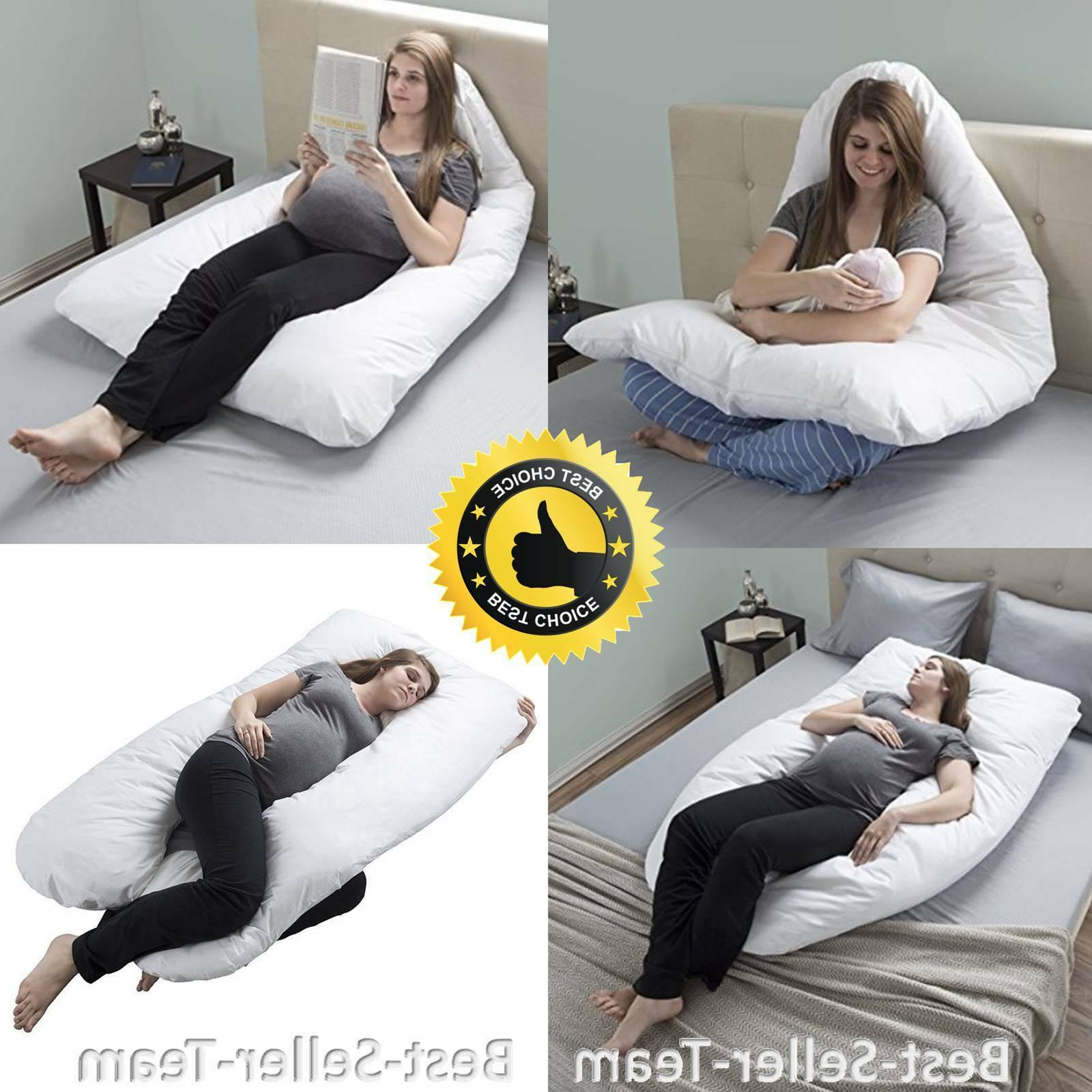 Pregnancy Pillow, Full Body Maternity Pillow with Contoured