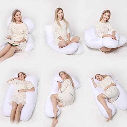 Pregnancy Pillow - Body Pillow for & or Back, Natural | for Back Pain,