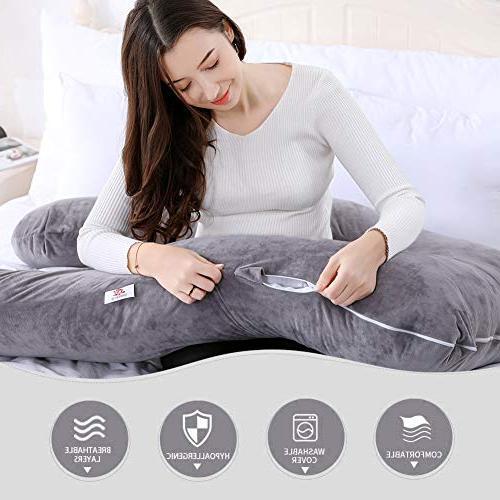 """QUEEN 55"""" Pregnancy Pillow U Pillow"""