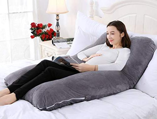 QUEEN ROSE Pillow U Body Pillow Gray