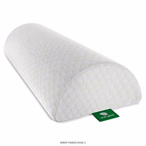 Back Foam Pillow Organic Cotton Cover White