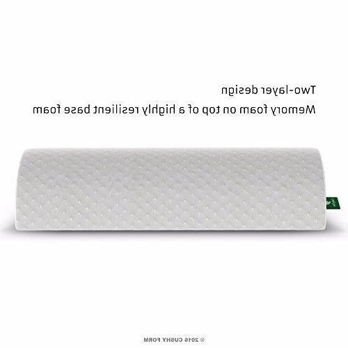 Back Foam Semi Roll Pillow Organic Cotton Large White