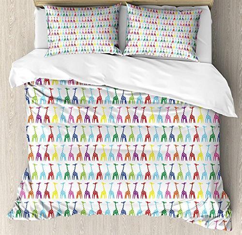 bedding giraffe duvet cover set