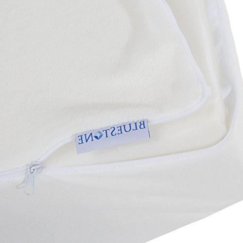 Bluestone Elevating Wedge with White Cloth Zippered