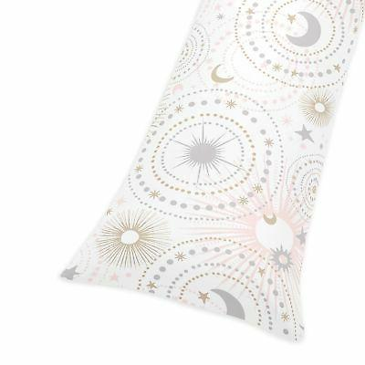 blush pink star moon pillow
