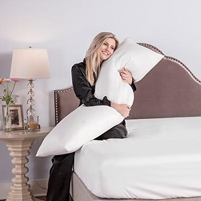 Body Pillow 20 x 54 Inch 240 Thread Count Cover Fiber