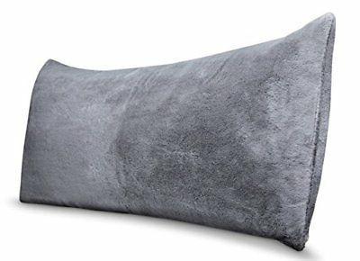 Room Essentials Body Pillow Cover Grey Faux Fur Super Soft-