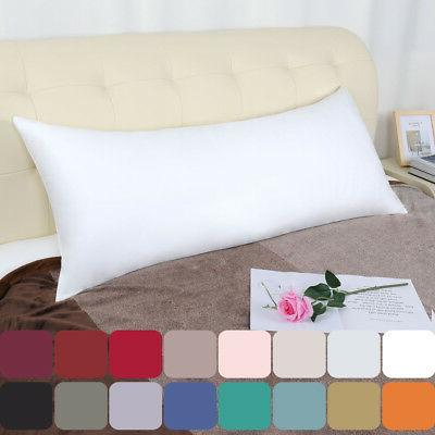 Body Pillowcase Pillow Case Cover w Zipper 100% Long Staple