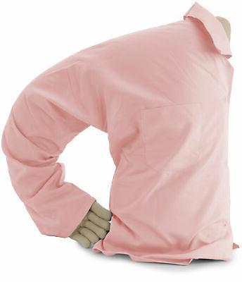 boyfriend pillow light pink white