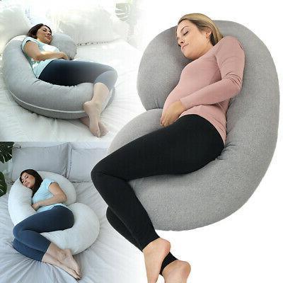 C Shape Full Body Maternity Pillow Nursing Sleeping Support