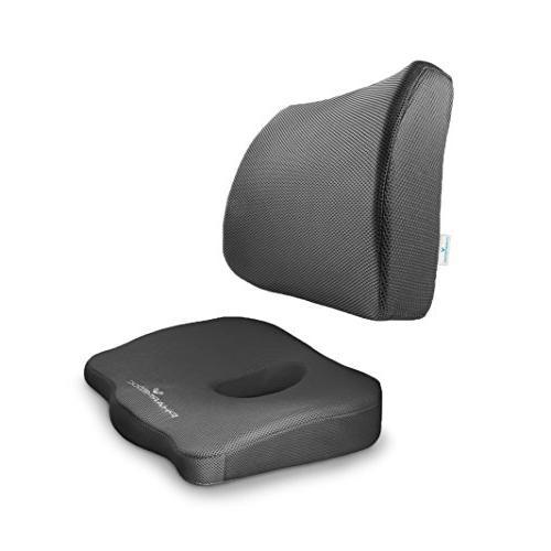 coccyx cushion lumbar support combo