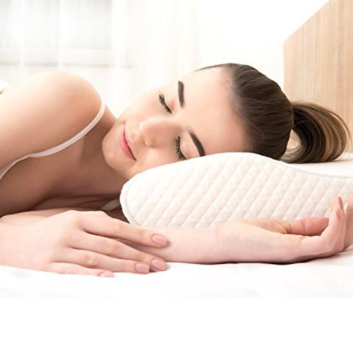 EPABO Foam Pillow Ergonomic for Neck Side Stomach Free Included