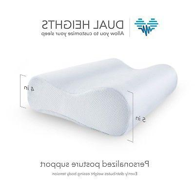 Contour Memory Foam Pillow w/ Cooling Orthopedic Bed Reversible