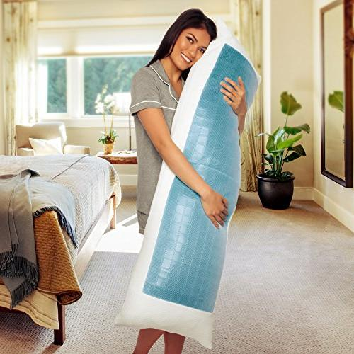Mindful Design Cooling Foam Extra Shredded Memory Foam w/Cooling Gel, Support Comfort Stomach Side Sleepers