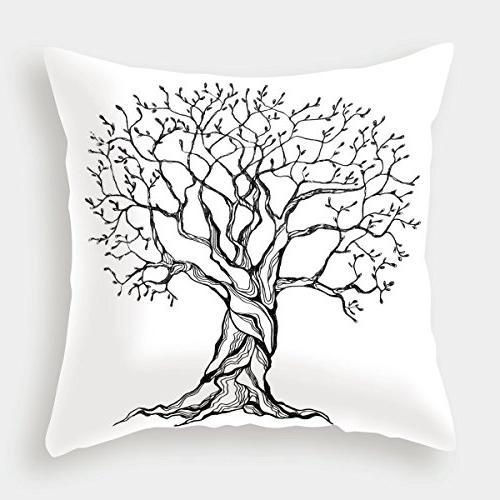 cotton linen throw pillow cushion