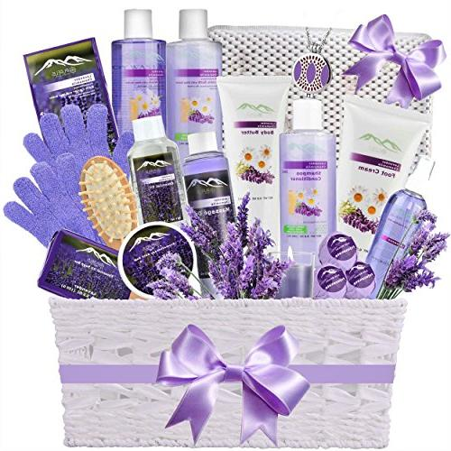 deluxe spa gift basket chamomile