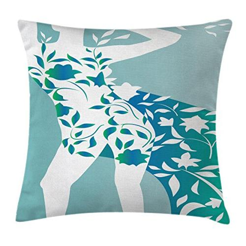 floral throw pillow cushion cover