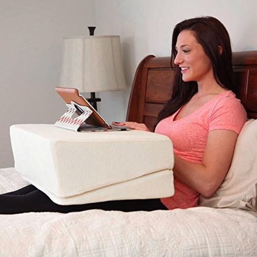 Queen Rose Small Folding Pillow Incline For Leg And Reflux With Removable