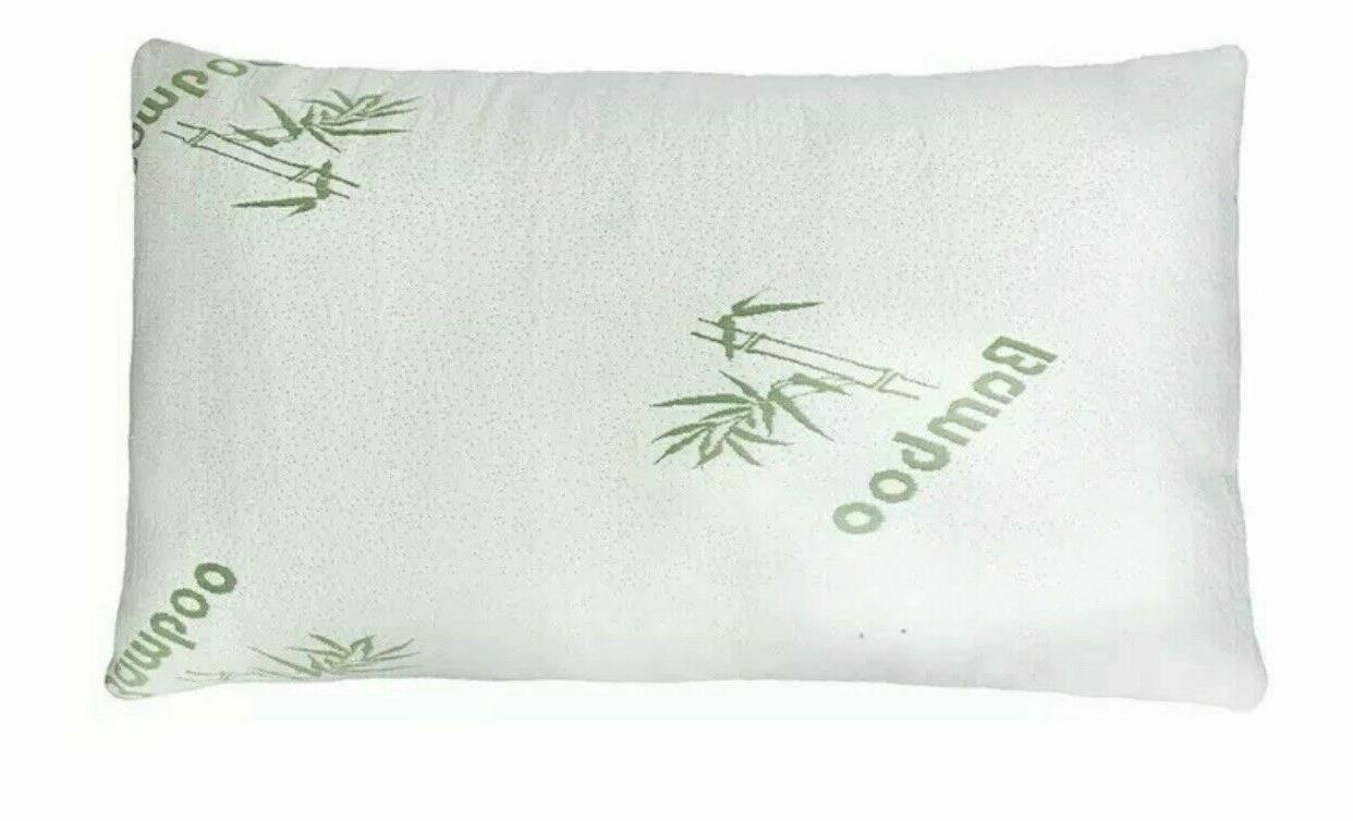 Full Body Bamboo Pillow Shredded Memory Foam With Removable