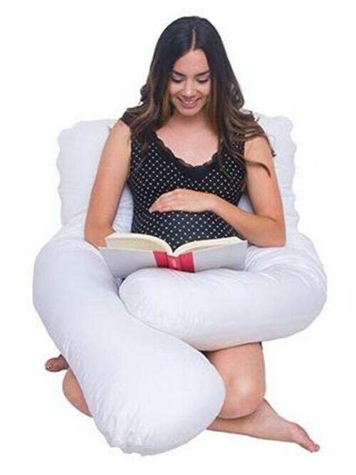 Full Pillow Case for Maternity White