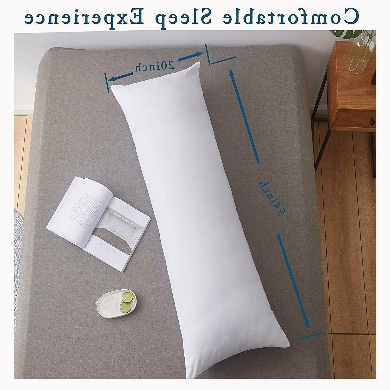 Full Body Pillow Insert, Soft Large Long Memory Fiber Bed Pi