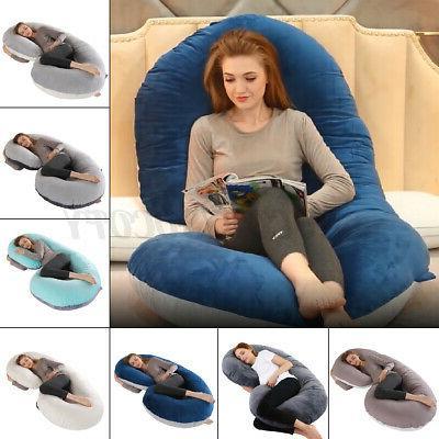 full body pregnancy pillow c shaped maternity