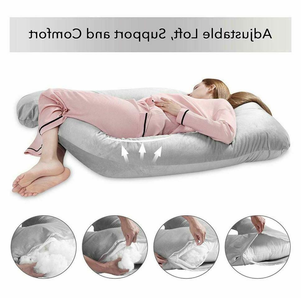 Full Pregnancy Pillow for Maternity U Shape On Side