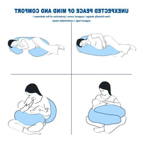 Pregnancy Full C Pillow Blue