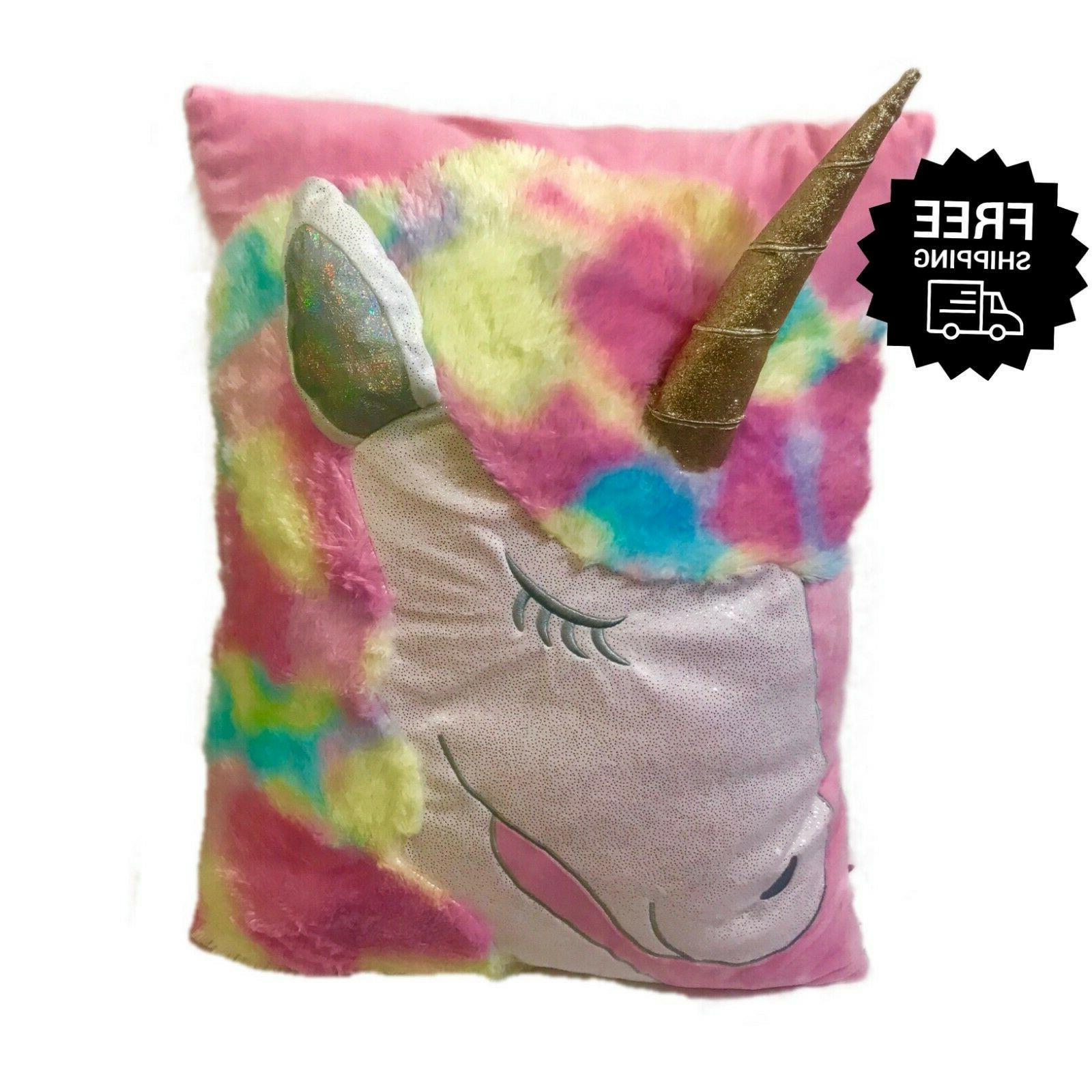 girls unicorn pillow 3d jumbo oversized body