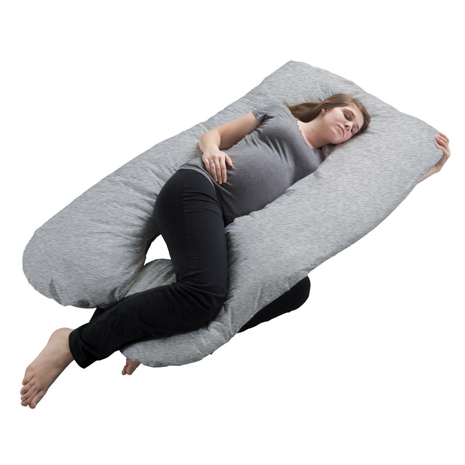 Gray U Shaped Full Body Pregnancy Pillow C