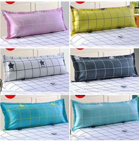 Grid Couple Body Sofa Sleep Pillowcase Pillow