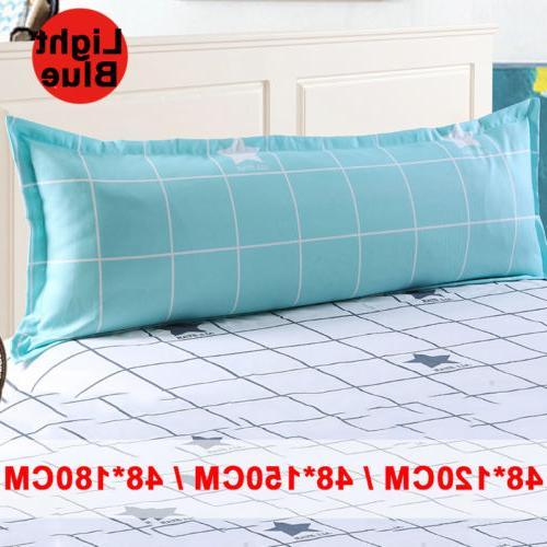 Grid Sofa Sleep Pillowcase Pillow