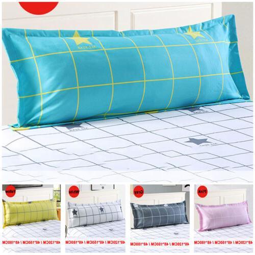 Grid Pattern Sofa Sleep Protector Case Pillowcase Pillow