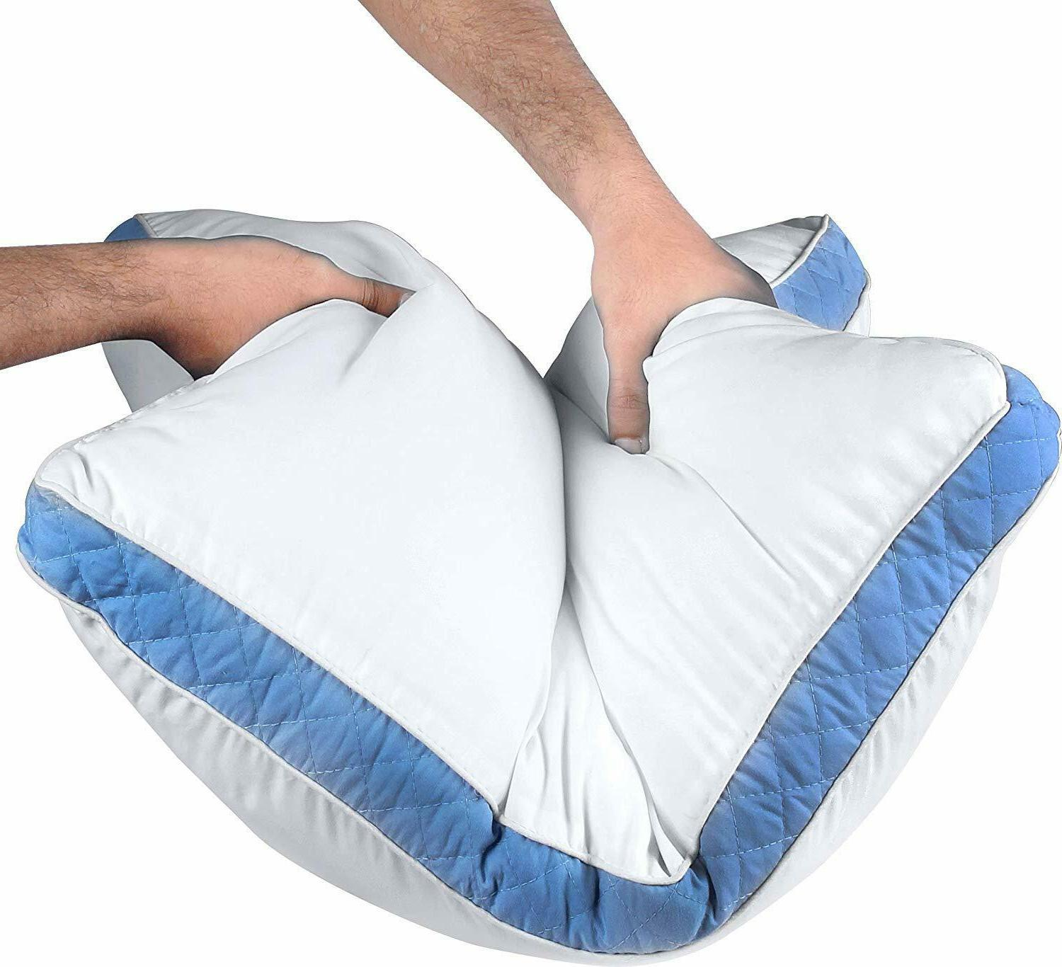 Utopia Bedding Gusseted Quilted Pillow 2 Bed Pillows