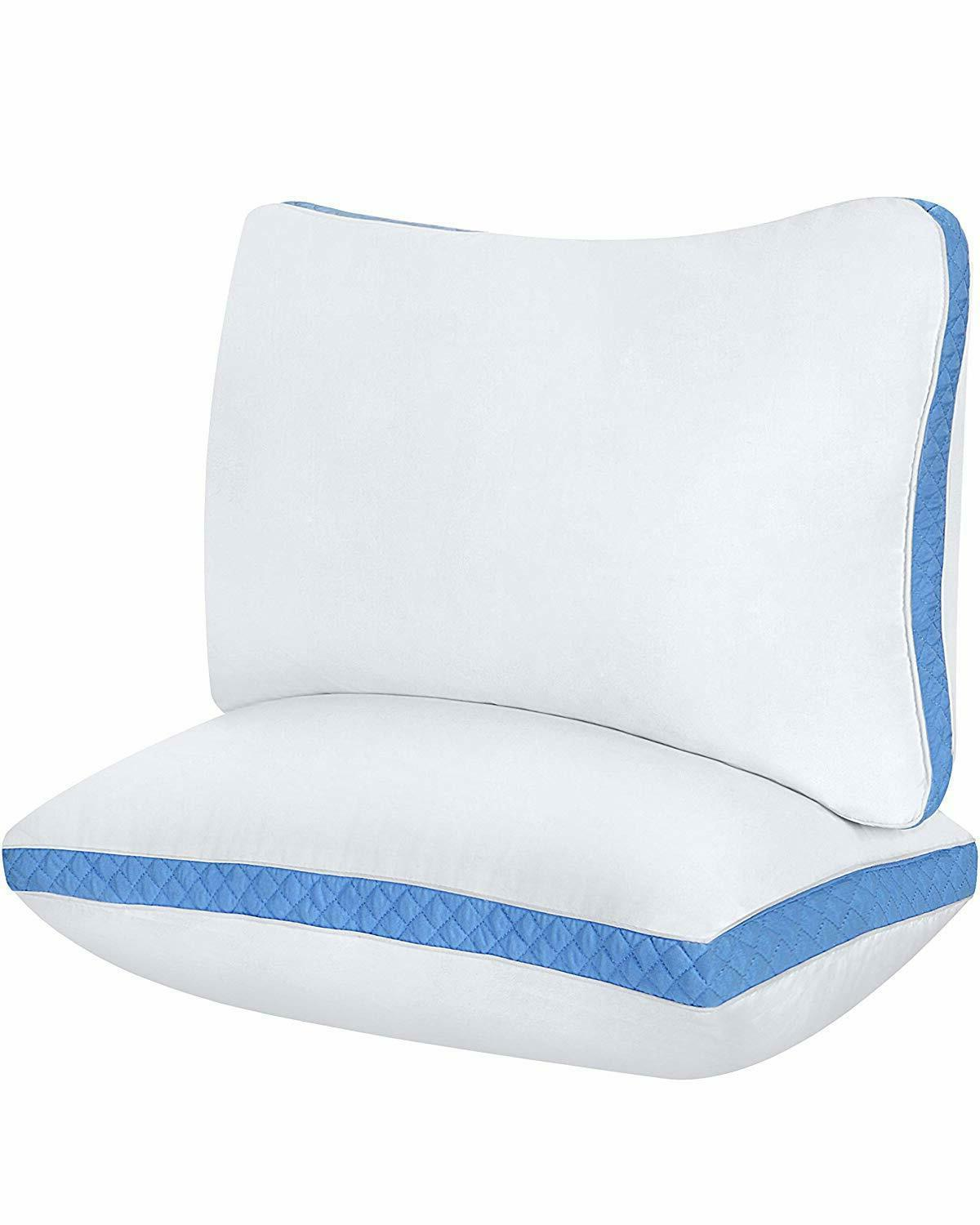 gusseted quilted pillow 2 pack hypo allergenic