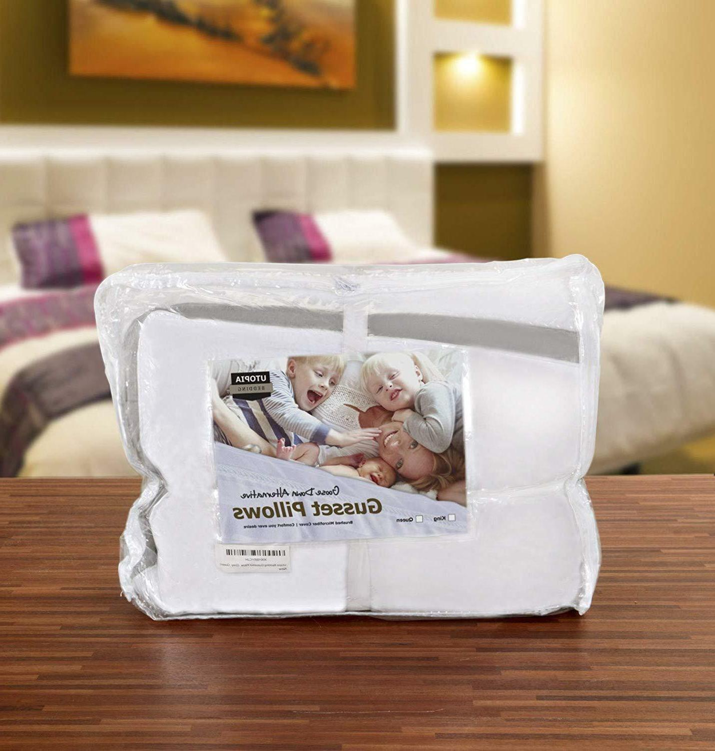 Gusseted Pillow of Bed Side Sleepers Bedding