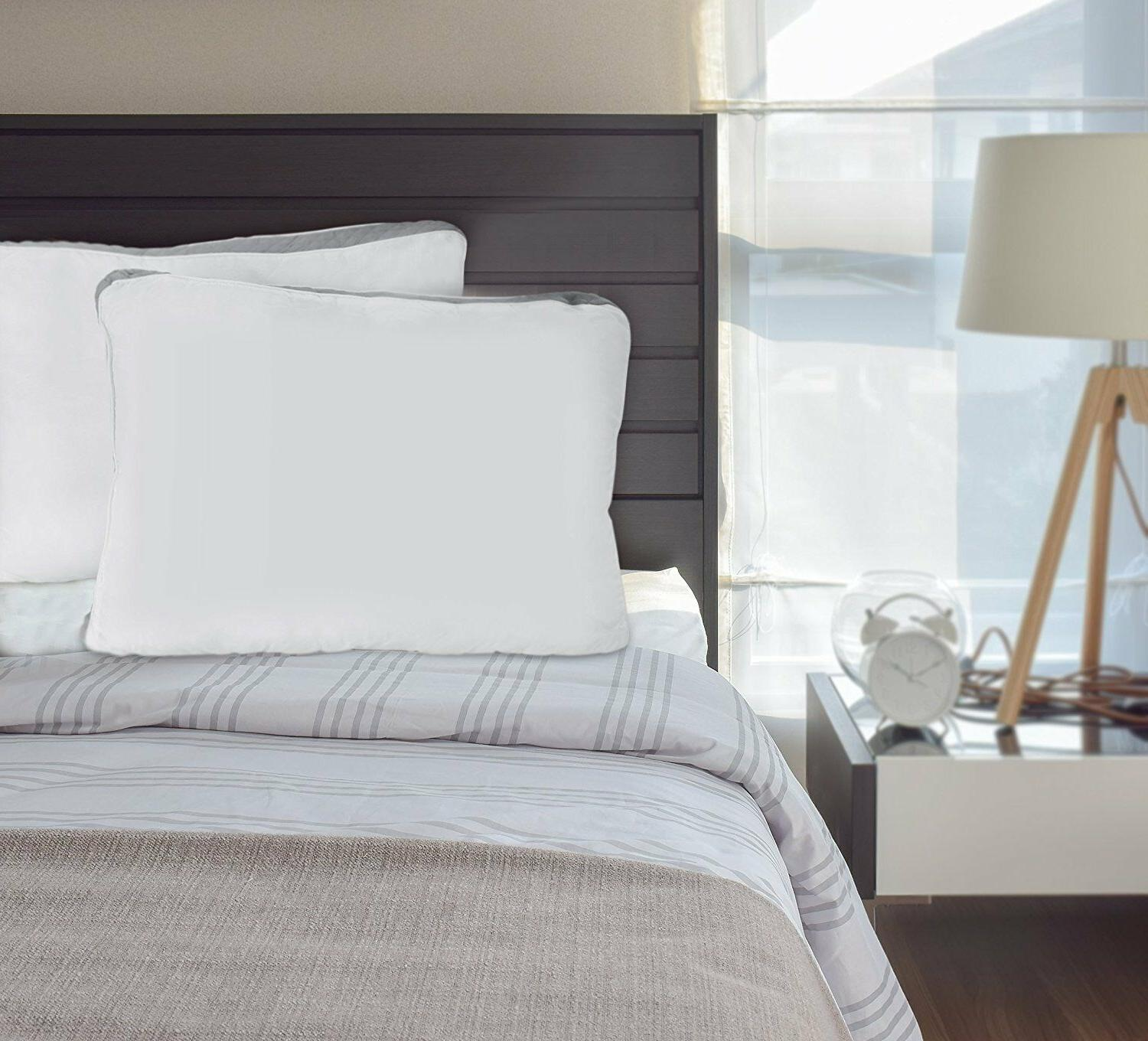 Gusseted Pillow of Bed Pillows Side Back Bedding