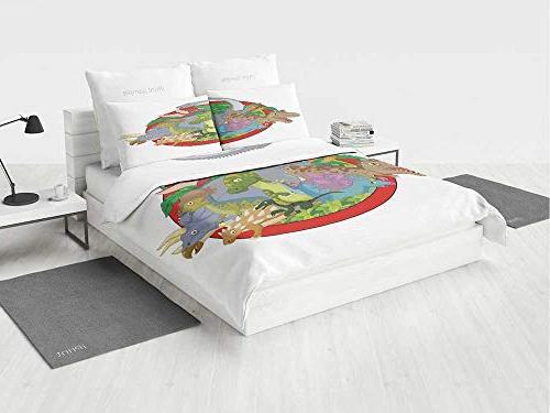 jurassic decor dino bedding set