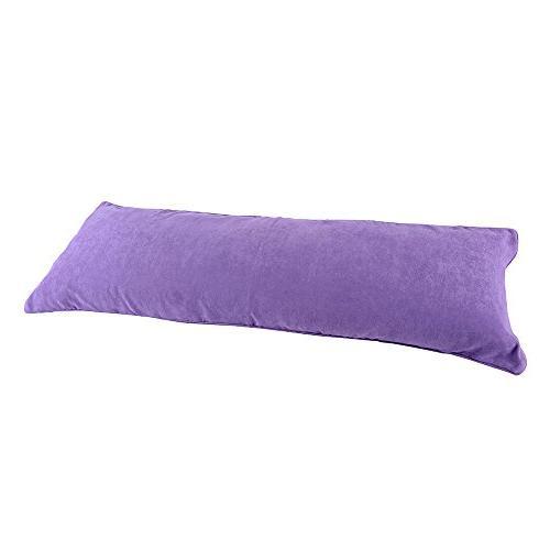 lavender purple microsuede pillow cover
