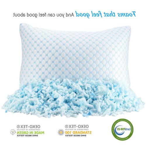 Memory Foam Reducing Heat and Ice Silk and Gel Infused