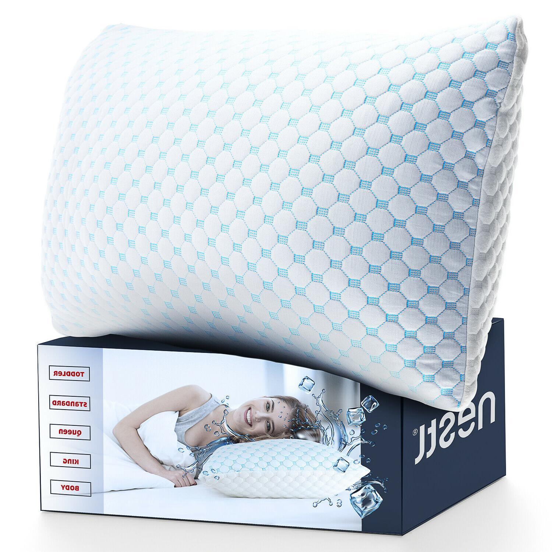 memory foam cooling pillow reducing heat