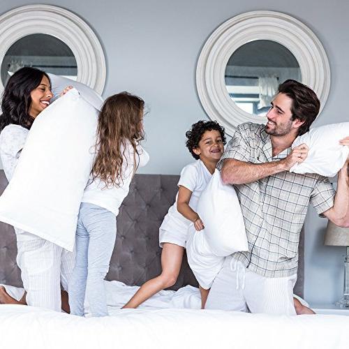 Lavish Home Memory Body Pillow- for Women, Legs Knees, Zippered Protector