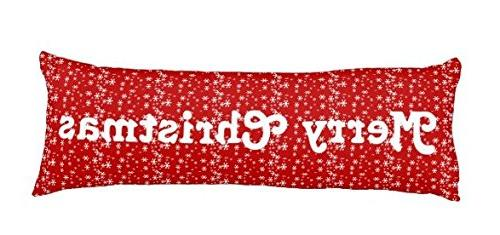 merry christmas red pillow cover