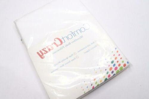 microfiber body pillow cover hidden zipper enclosure